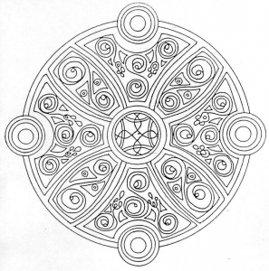 mandala-5 free to print
