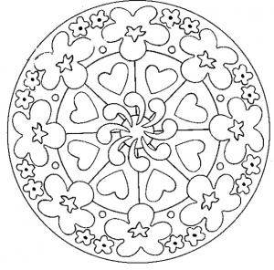 Coloriage mandalas coloriages pour enfants - Mandala a colorier en ligne ...