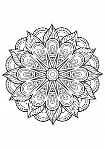 Mandala complexe livre gratuit 1