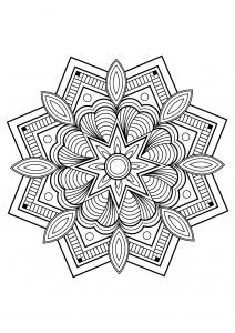 Mandala complexe livre gratuit 10