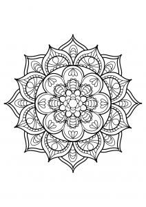 Mandala complexe livre gratuit 11