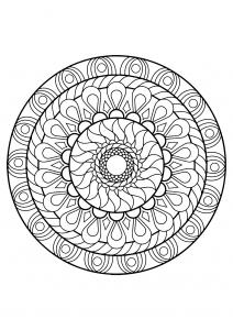 Mandala complexe livre gratuit 12