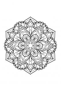 Mandala complexe livre gratuit 15