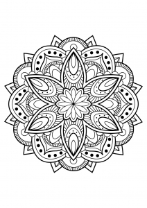 Mandala complexe livre gratuit 16