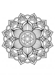 Mandala complexe livre gratuit 17