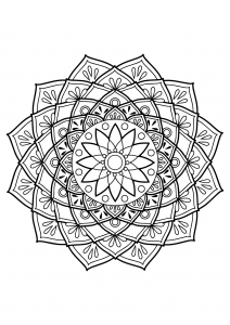 Mandala complexe livre gratuit 19