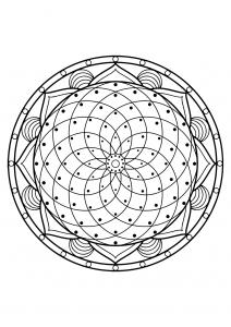 Mandala complexe livre gratuit 20