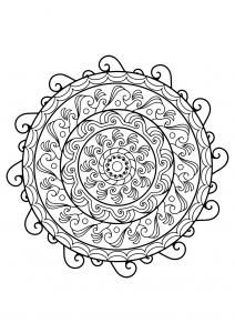 Mandala complexe livre gratuit 21