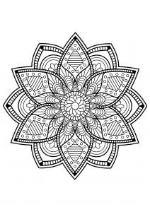 Mandala complexe livre gratuit 24