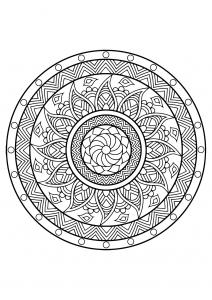 Mandala complexe livre gratuit 25