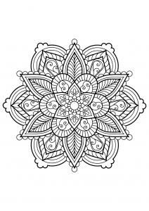 Mandala complexe livre gratuit 28