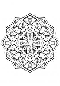 Mandala complexe livre gratuit 3