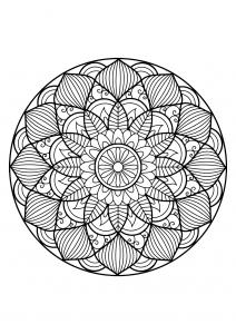 Mandala complexe livre gratuit 30