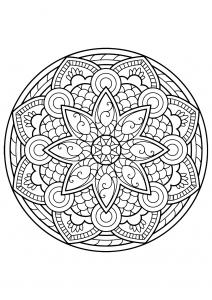 Mandala complexe livre gratuit 4