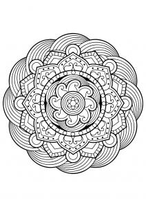Mandala complexe livre gratuit 5