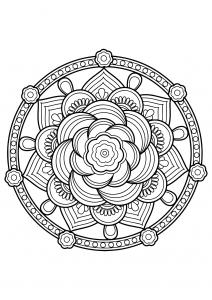 Mandala complexe livre gratuit 7