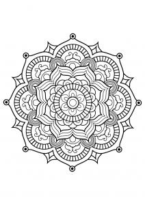 Mandala complexe livre gratuit 8