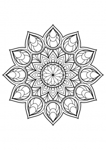 Mandala complexe livre gratuit 9