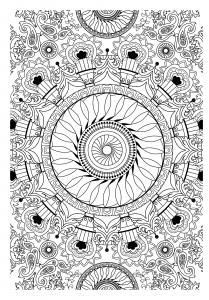 Mandala complexe vegetal