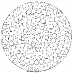 Mandala facile figures geometriques