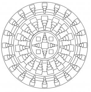 Mandala facile geometrique 1