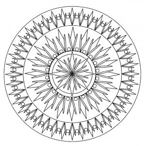 Mandala facile geometrique 2