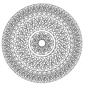 Mandala facile geometrique 3
