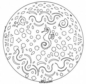 Mandala facile hippocampe