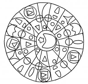 Mandala facile simplicite geometrique