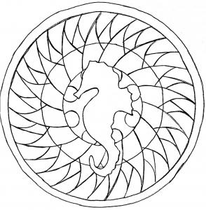 Mandala hippocampe par domandala 15