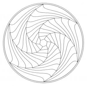 Mandala illusion optique