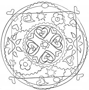 Mandala jolis coeurs par domandala 12