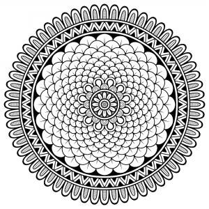 Mandala petits petales