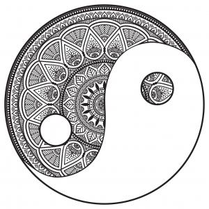Mandala yin et yan par snezh