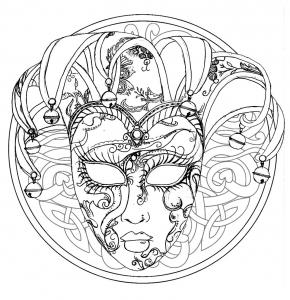 Mandala Gratuit Tete Loup Coloriage Mandalas Coloriages