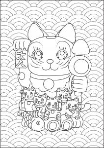Maneki Neko et ses petits