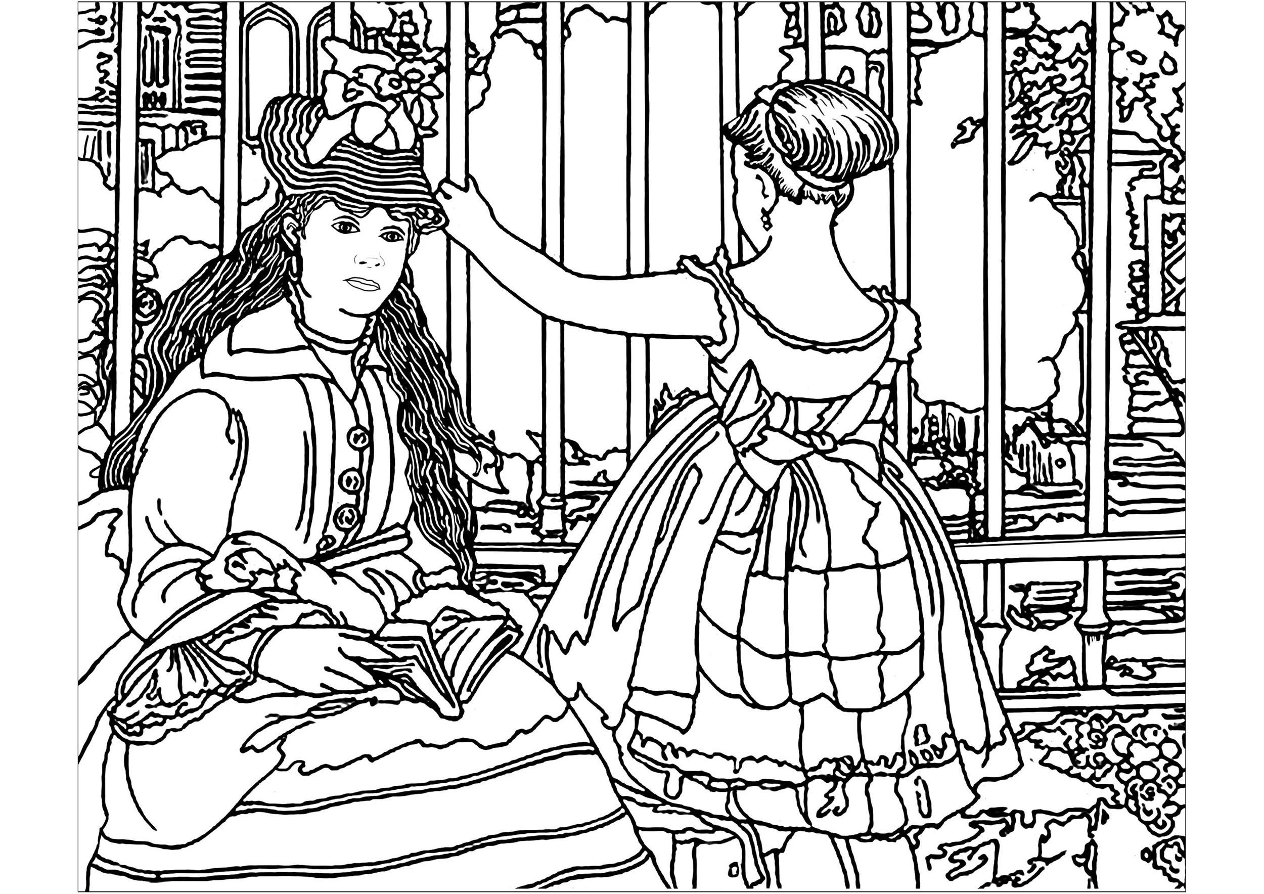 Coloriage sympa de Manet à imprimer et colorier