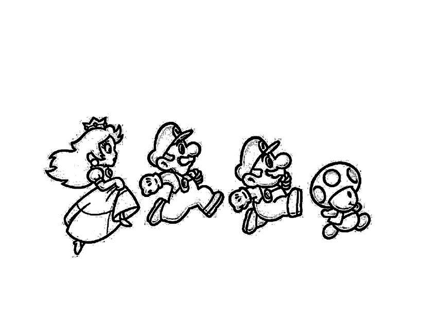 Mario bros 4 coloriage super mario coloriages pour enfants - Coloriage mario bross ...