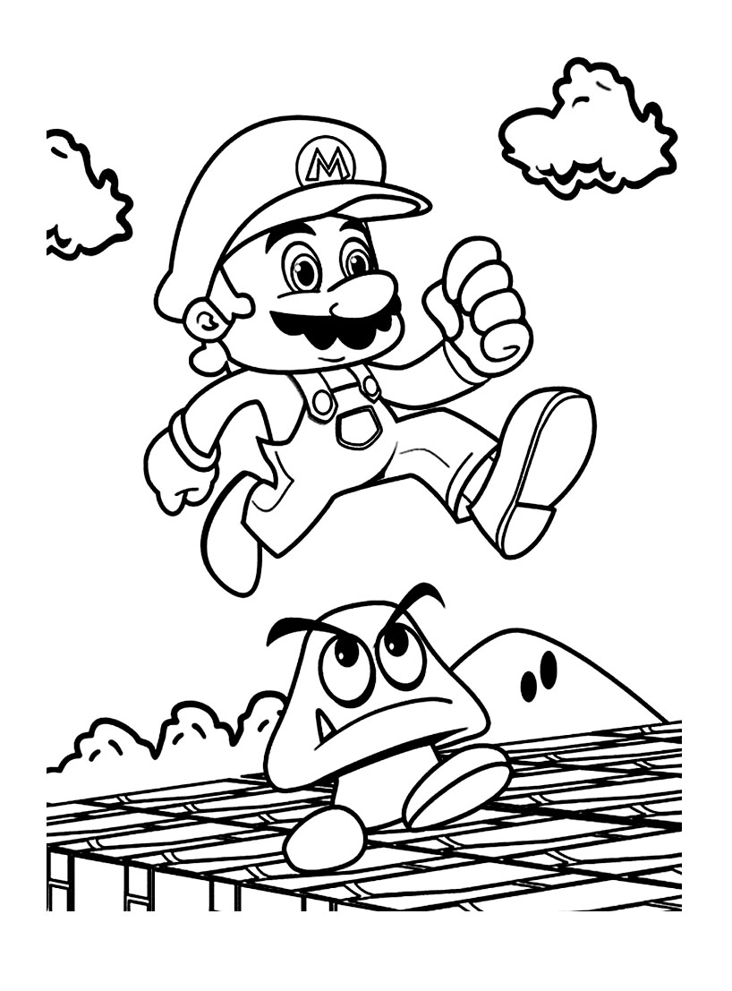 Mario bros 7 coloriage super mario coloriages pour enfants - Coloriage mario bross ...