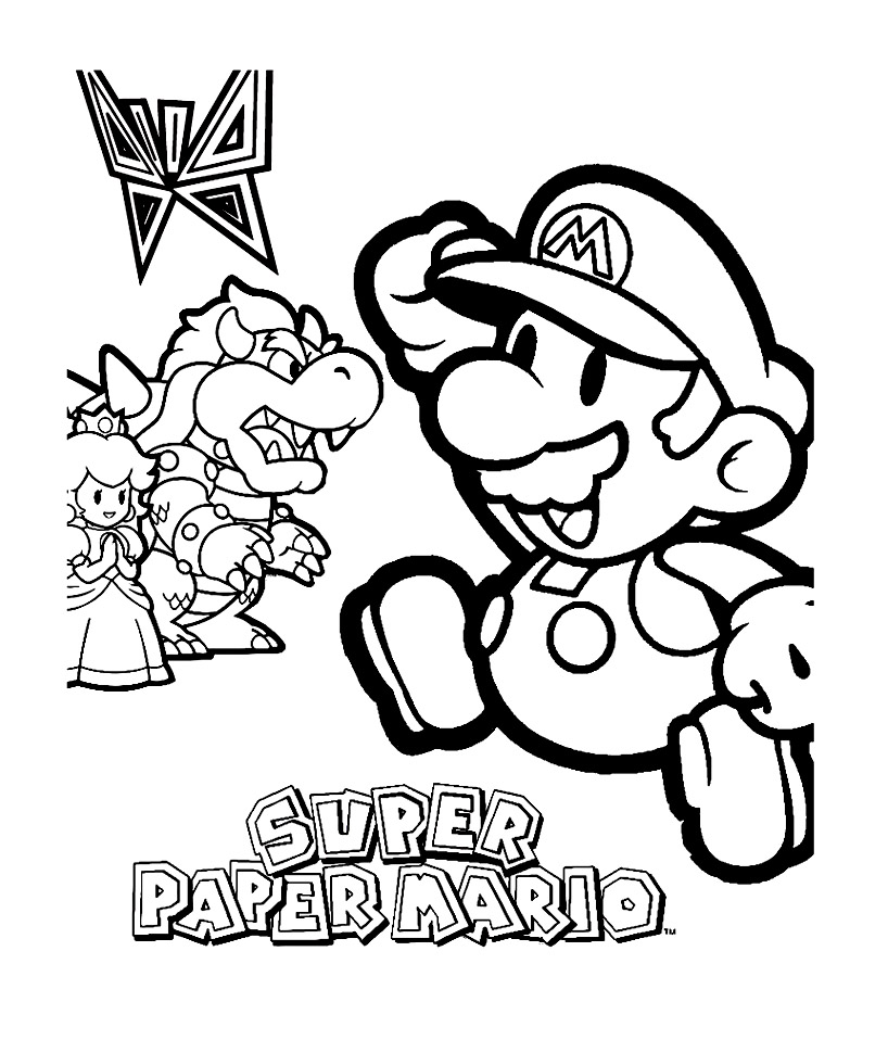Mario bros 8 coloriage super mario coloriages pour enfants - Coloriage mario bross ...