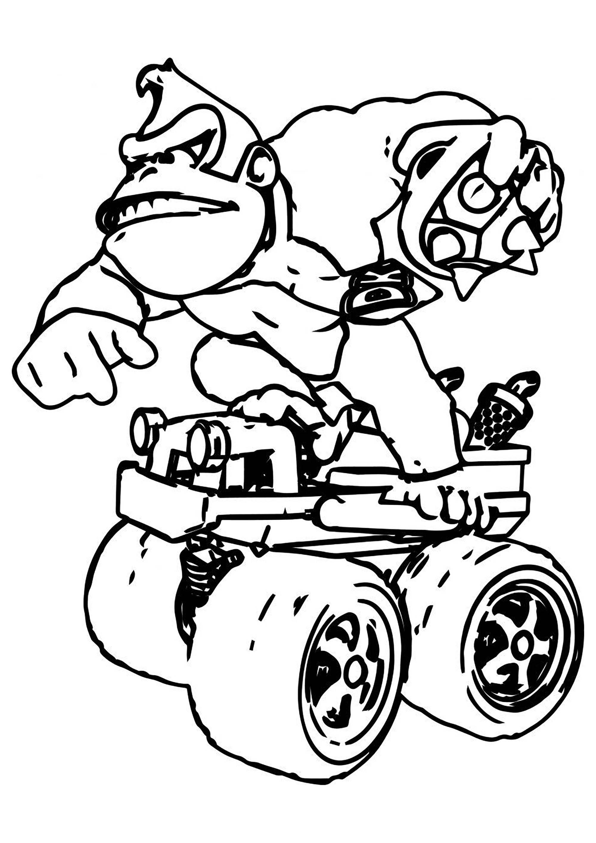 Donkey Kong - Coloriage Super Mario - Coloriages pour enfants
