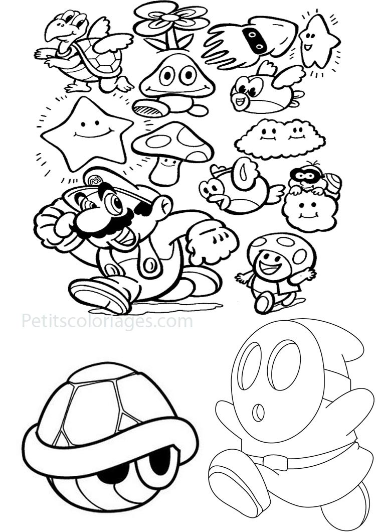 coloriages mario bros 1