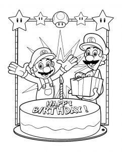 Coloriage Super Mario Coloriages Pour Enfants Page 2