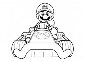 Coloriage de Mario Kart à télécharger