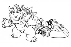 Coloriage de Mario Kart à imprimer gratuitement