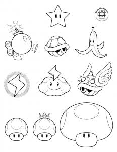 Image de Mario Kart à télécharger et colorier