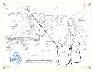 """Coloriage officiel du """"Retour de Mary Poppins"""""""