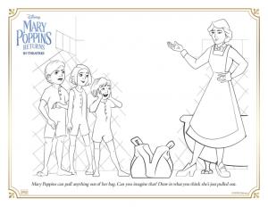 Le Retour de Mary Poppins à colorier