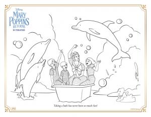 Joli coloriage du retour de Mary Poppins