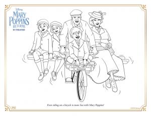 Le Retour de Mary Poppins à imprimer et colorier